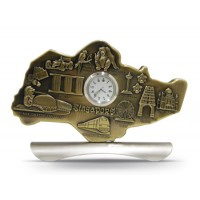 Map Clock (Brass)